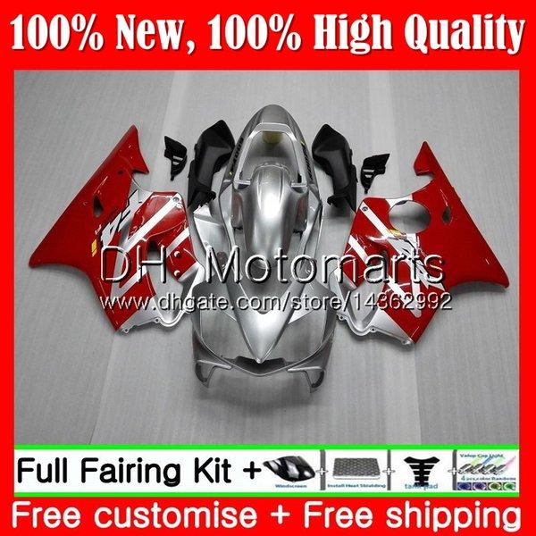 Кузова для Honda CBR600F4i CBR600FS CBR600 F4i 01 02 03 красный серебристый 43MT6 ЦБ РФ CBR600 ЦБ РФ 600 F4i 600F4i ФС 2001 2002 2003 обтекателя кузова