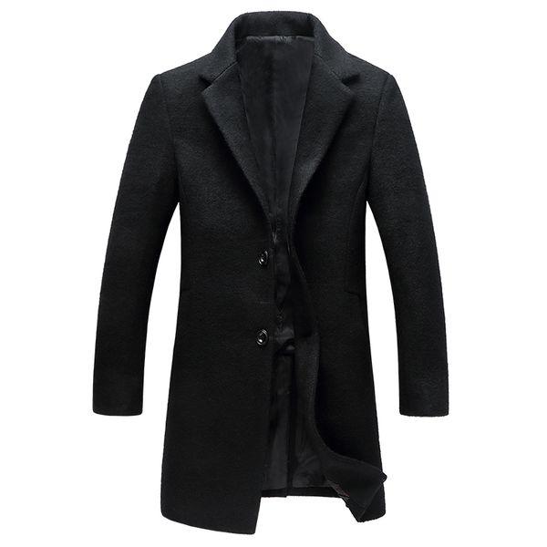 2018 New Woolen Coat Jacket Men Short Slim Korean Coat Small Suit Autumn and winter Trench abrigo hombre invierno XD364