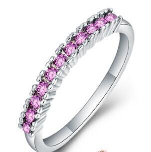 Белое золото Розовый кристалл
