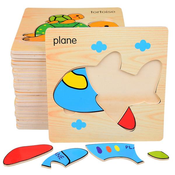 Creative Tangram Puzzle World Geometric Building Blocks Children's Wood Puzzle Area Toys Kindergarten Medium and Small Class Materials