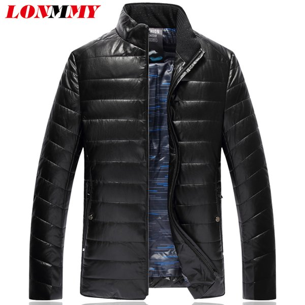 LONMMY 7XL 8XL Winter jackets mens parka men thicken Causal coats male slim fashion cheap down jacket Black Purple 2018