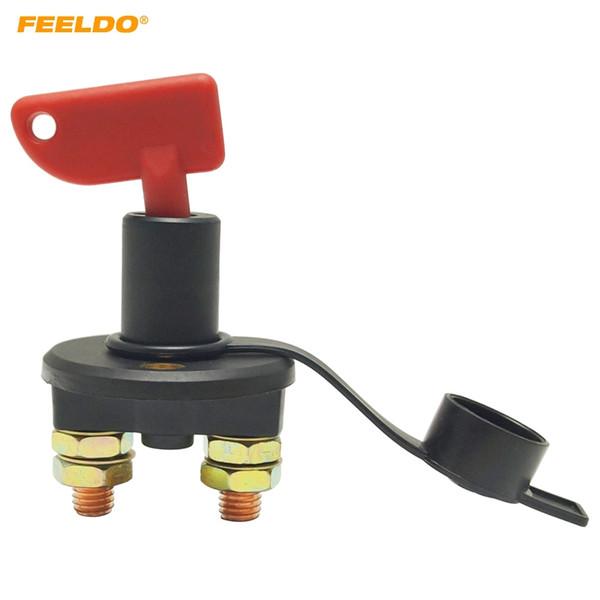 FEELDO Car Truck Boat Isolateur Batterie Déconnecter Couper Power Kill Switch avec DC12V / 24V amovible à 2 touches # 5703