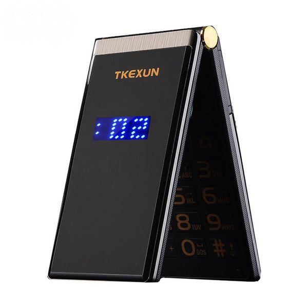 Ursprünglicher TKEXUN M2 Schlaghandy-Metallkörper-älterer Luxuxdoppel-Sim-Kamera MP3 MP4 3,0 Zoll-Touch Screen Handy