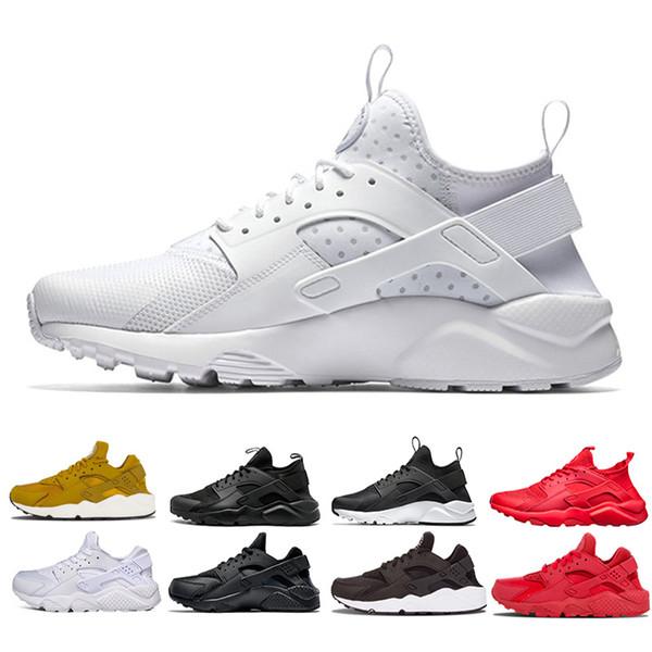 Großhandel Nike Shoes Air Huarache Ultra Breathe Sneaker Triple Weiß Schwarz Rot Männer Frauen Huarache Schuhe Huaraches Herren Trainer Sportschuhe