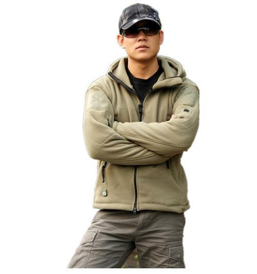 TAD jacket military tactical jacket for men Gear hoodied fleece warm jacket outdoor combat coat army green GRAY BK SAND