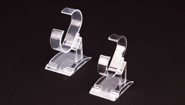 Vetrina in plastica trasparente con supporto per espositori per gioielli