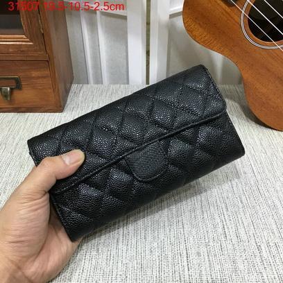 Berühmte Designer brandneue Echtleder Lammfell Kaviar gesteppte Klappe Geldbörse lange Brieftasche Kartenhalter mit Box