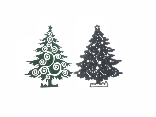 Metal Cutting Dies Christmas Tree Stencil for DIY Scrapbooking Photo Album Embossing Paper Cards Decorative Crafts