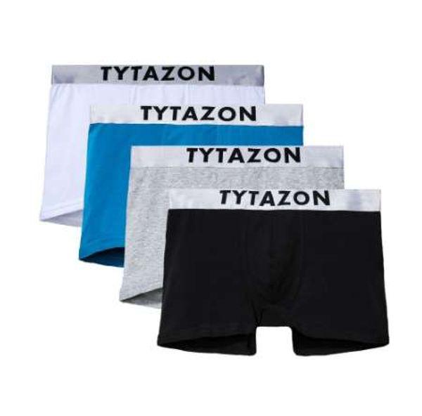 b467686fa7ef TYTAZON Mens Underwear Central logo Cotton Slim Fit Boxer Trunks Shorts  Legs Hemming Design Tagless No