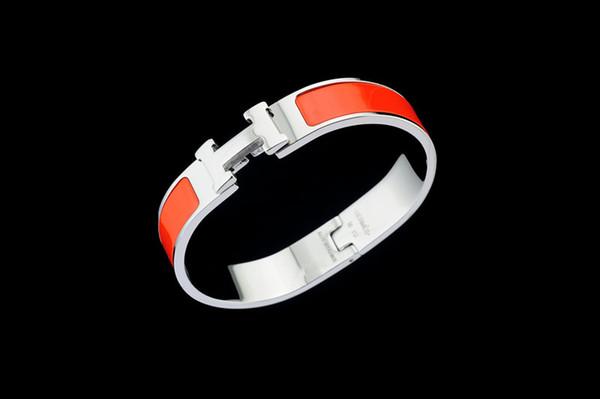 Alta calidad diseño de la celebridad carta hebilla de metal pulsera de moda de metal trébol cuff pulseras joyería de plata con caja