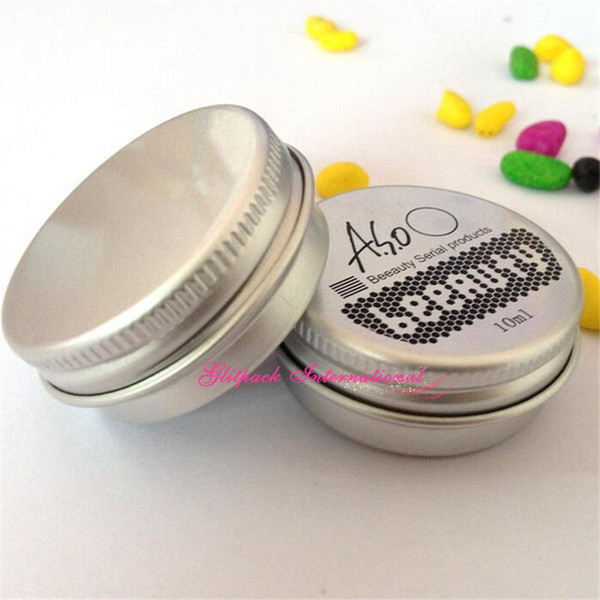 1 color customized printing Wholesale OEM Logo Make Stamp Company Screen Printing Aluminum Jar Tin Cans Cosmetic Bottle Empty jar packaging