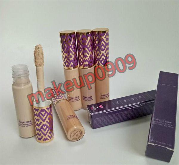 Lowest price top quality tar0e Shape Tape Concealer contour 5 colors Fair Light Light medium Medium Light sand 10ml liquid foundation DHL