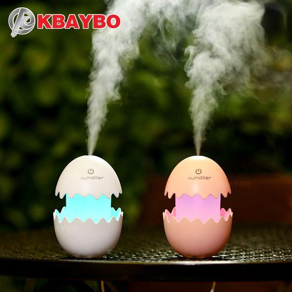 KBAYBO 100ml Diffuser Aroma Air Humidifier DC5V USB Ultrasonic Mist Maker funny Egg LED light Essential Oil Diffuser for home