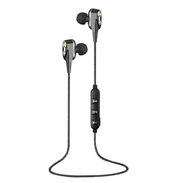 Bluetooth-гарнитура HiFi наушники бас наушники-вкладыши двойное движение