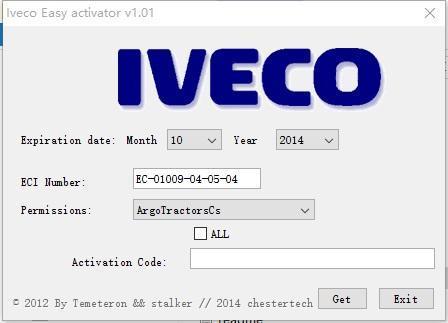 Iveco E.A.SY. keygen para la versión 13.1