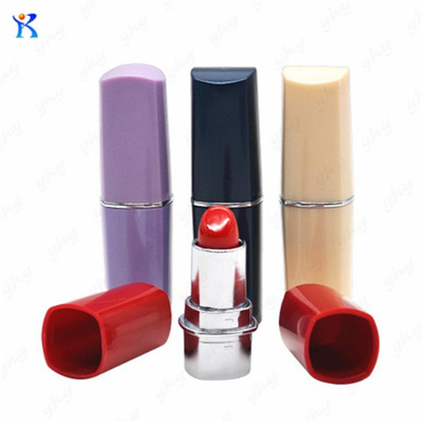 Free Shipping Newest Beautiful Lipstick Shape Pipes Bottle Snuff Snorter Pipe Rolling Machine Paper Smoking Pipe Vaporizer
