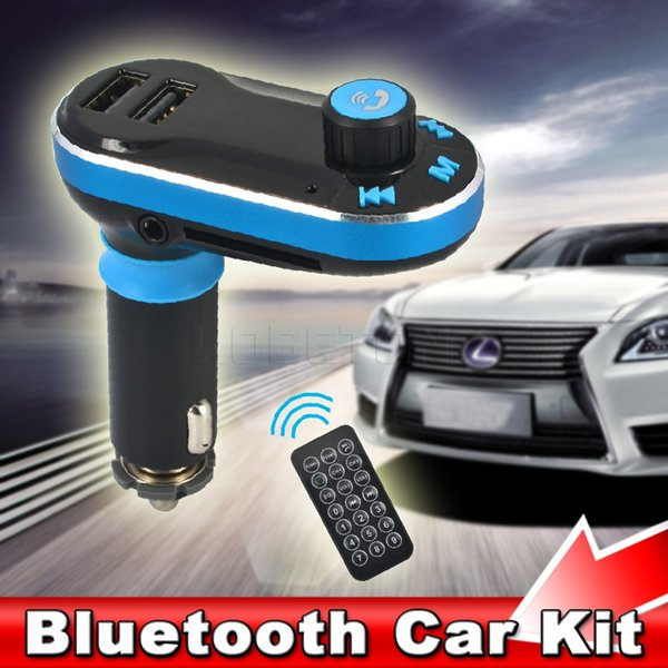 New Bluetooth Handsfree Car Kit Wireless Car MP3 Music Player Fm Transmitter Modulator Dual USB Interfaces Charger for iphone