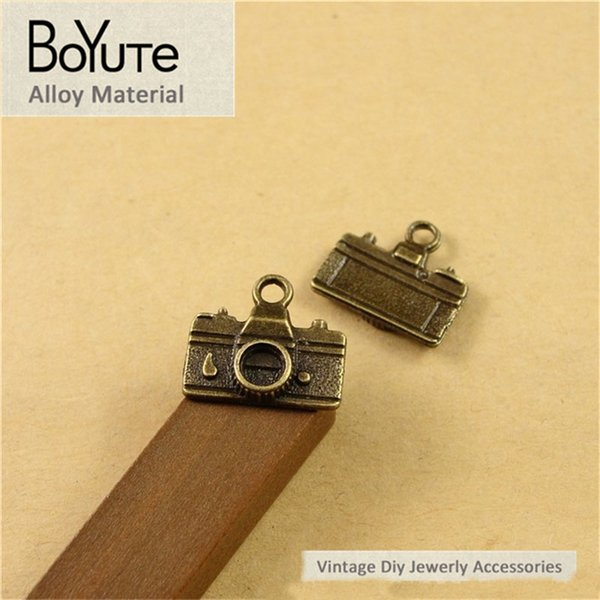 BoYuTe (100 Pieces/Lot) 16*14MM Vintage Camera Charms Antique Bronze Plated Zinc Alloy Diy Pendant Charms for Jewelry Making Accessories