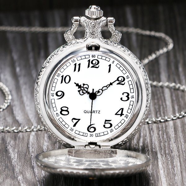 Fashion Luxury Masonic Freemason Freemasonry Vintage Silver Analog Quartz  Pocket Watch With Necklace Chain For Women Men Gifts Pocket Watch Sale