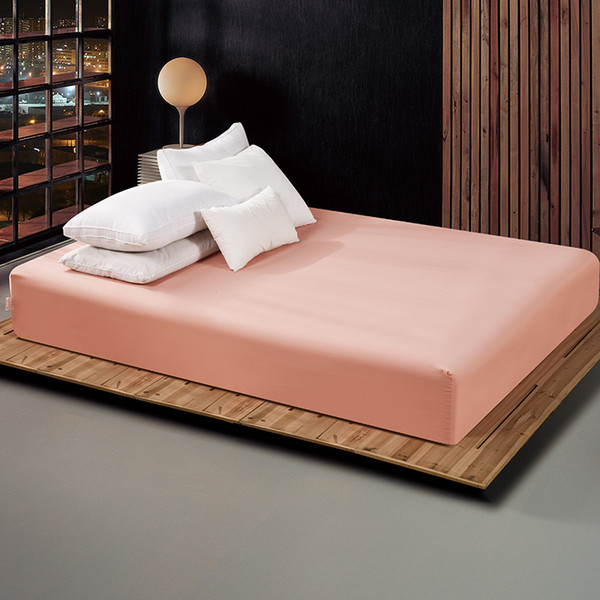160x200cm Fitted Sheet With An Elastic Band 17 Solid Colors Bed Sheets Linen Bedspread Polyester Cotton Mattress Cover