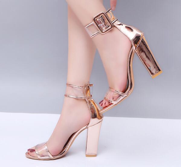 Tacones Altos Zapatos Gruesas Compre Tobillo Sandalias De Chaussure Bombas P170536 Correa Damas Mujeres Verano Boda Femme A Mujer Claros VUzMpS