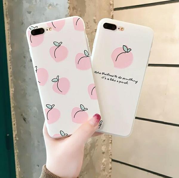 Rijow For iPhone X 7 6 6s Plus Phone Case Cartoon Cute Cell Phone Cases Phone Case For iPhone 8 Case Summer Fruit Refreshing TPU