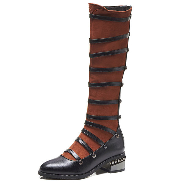 New oversized American standard shoes code Martin boots rivet large size women's boots