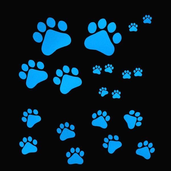 Funny cartoon dog paws animal sticker footprints Wall stickers decoration kids room DIY