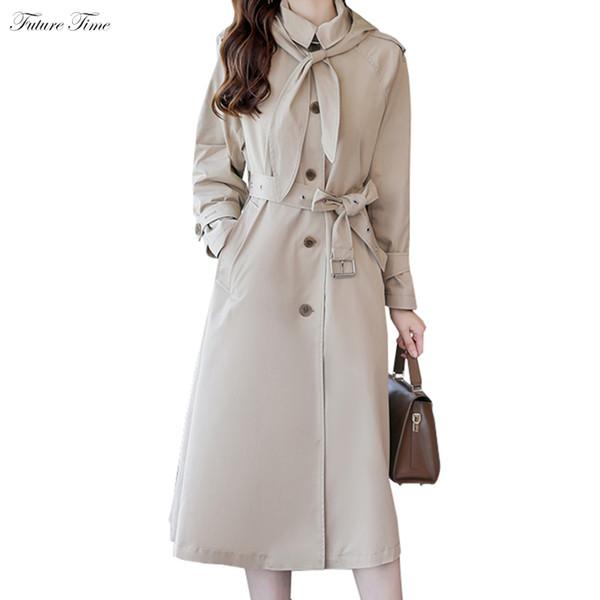 Mulheres Trench Waterproof Longo Trench e Coats para o Outono Único Breasted Raincoat Negócios Casacos 2018 New Classic C1635