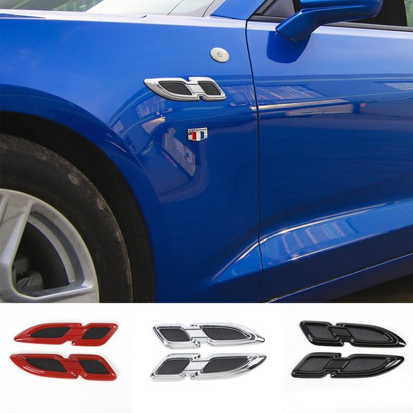 Air Flow Fender Engine Hood Body Intake Vent Cover Leaf Emblem Exterior Accessories For Chevrolet Camaro/Equinox 2017 Up Car Styling