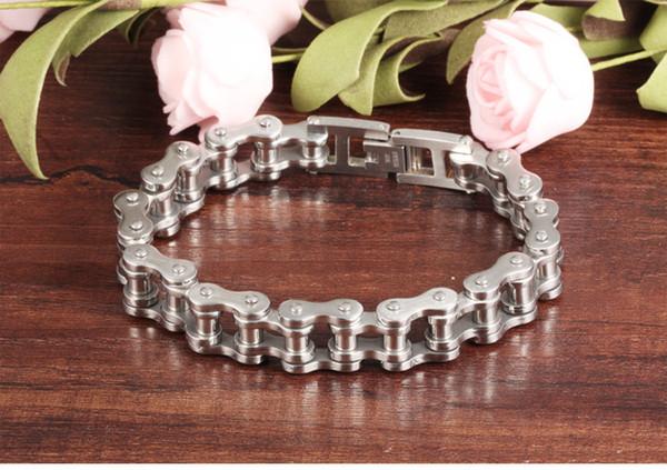 Titanium steel men's chain bracelet, motorcycle chain, rock and roll boyfriend jewelry wholesale