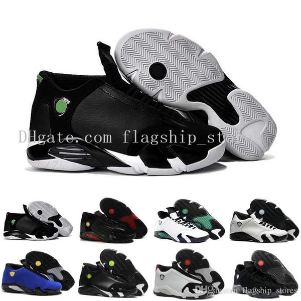 14 XIII Uomo scarpe da basket ultimo colpo punta nera ferra tuono rosso pelle scamosciata Varsity Red Oxid scarpe da ginnastica stivali sneakers US8-13