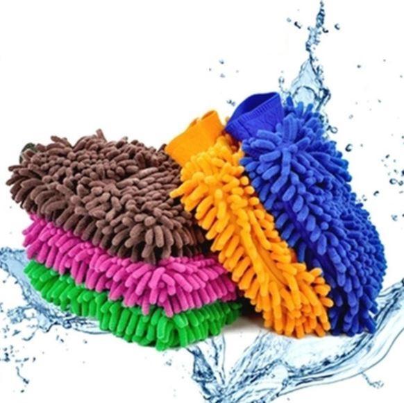 9 colors Microfiber Snow Neil fiber high density car wash mitt car wash gloves towel cleaning gloves WN487