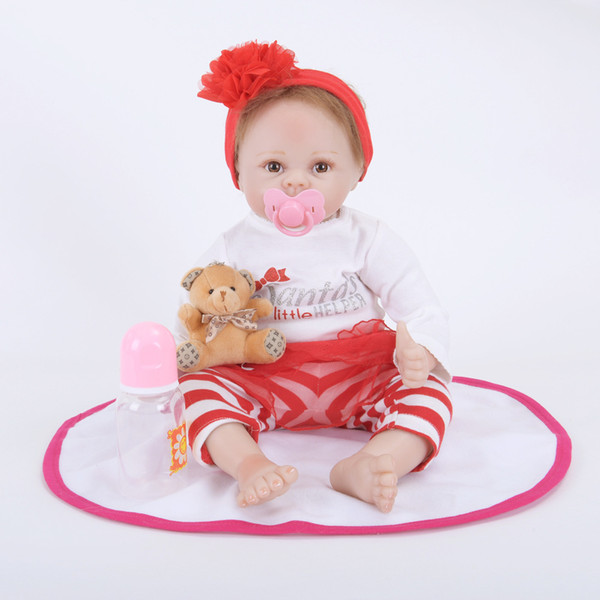 22Inch Reborn Baby Doll Lifelike Alive Girl Doll Realistic Supernatural Doll With Beautiful Dress Xmas Gifts
