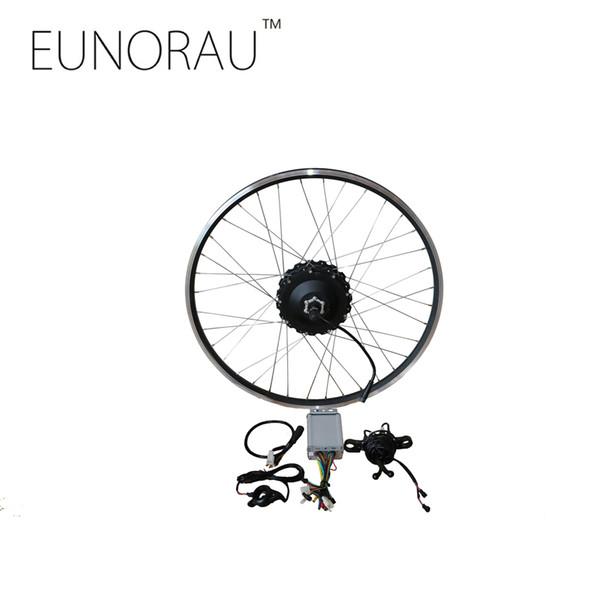 """New 48V1000W MAC geared rear 8T cassette hub motor Electric bike Kit 26"""" 27.5"""" 28'' Wheel electric bike conversion kit"""