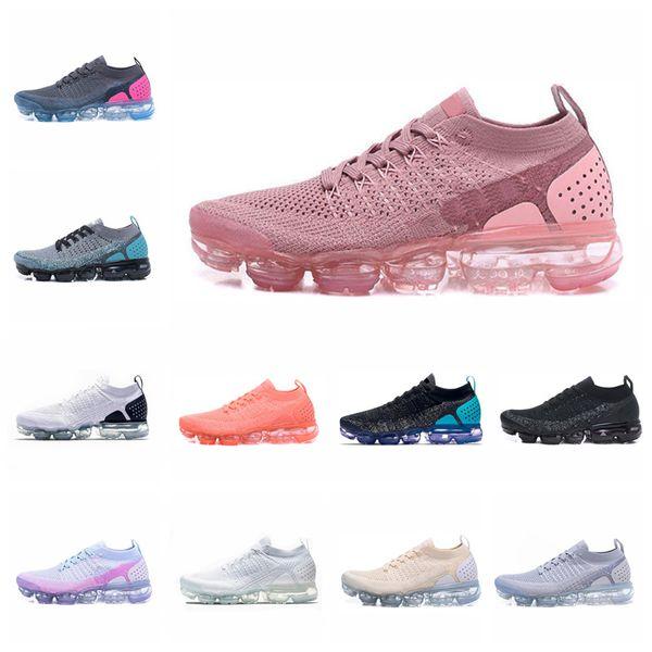 Großhandel Nike Vapormax 2.0 Nike Air Max Rainbow Damen Sportschuhe Herrenschuhe Air Rainbow BE WAHR Gold Weiß Rot Rosa Designer Laufschuhe Air Schuhe