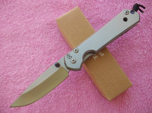 Chris Reeve Small Sebenza 21 Frame Knife 440C steel Satin Drop point Plain Folding blade knife Tactical knife knives with retail box