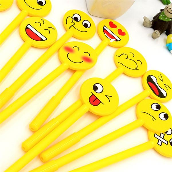 1Pcs Smile Emoji Emotion Gel Pen 0.38 mm Black Ink Korean Stationery Writing Pens School Office