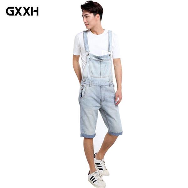 Summer Cowboy Bib Male Korean Casual Big Pocket Suspenders pants Shorts Loose Large size 5XL Five pants Ladies Straps Jumpsuit