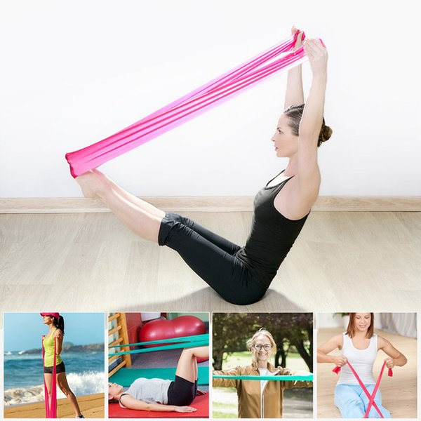 Hewolf Hot Elastic Yoga Pilates Rubber Stretch resistance Band 1.2m Arm Back Leg Fitness Tight Gym Sport Pull Stretch Equipment