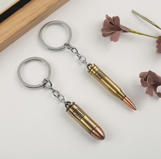 Sıcak Oyun PUBG Gun Mermi Anahtarlık letterWin Mognum Yüksek Kaliteli Metal Anahtarlık Anahtarlık Için Oyuncunun Hediyeler