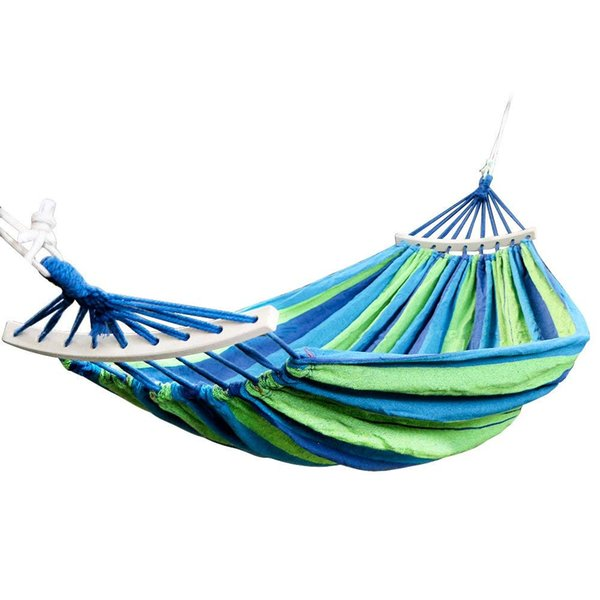 Double 2 Person Cotton Fabric Canvas Travel Hammocks 450lbs Ultralight Camping Hammock Garden Swing Sleeping Bed Portable Tree Hanging Chair