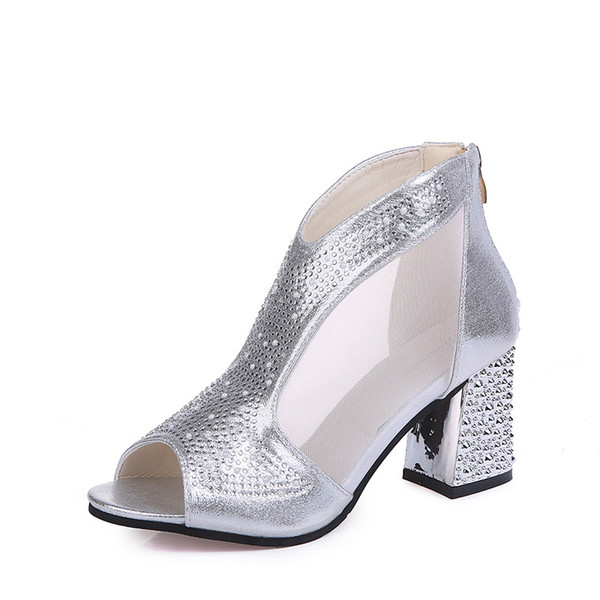 Fashion Nice Women Sandals Bling 7cm High Heels Diamond