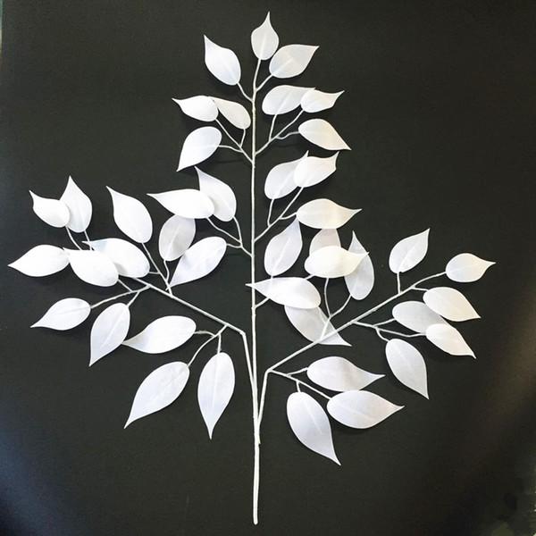Декор цветок белый шелк искусственные листья украшения дома листья для свадьбы арка свадьба старинные поставки