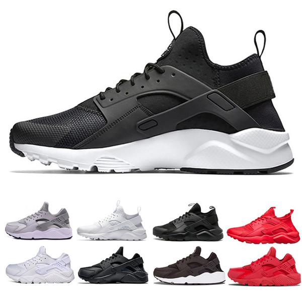 Compre Nike Air Huarache Zapatillas De Running Para Hombre Zapatillas De Deporte Para Mujer Zapatillas De Deporte De Moda Para Mujer Gris Triple Rojo