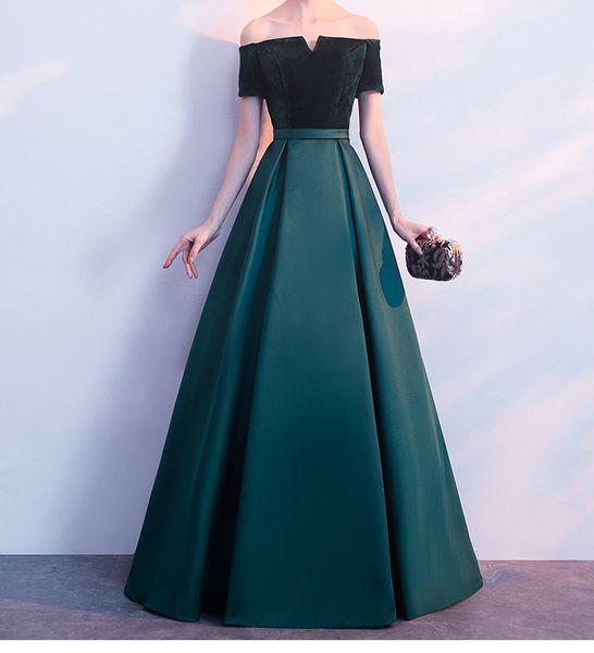 Elegante Vestidos De Noite Sem Alças De Cetim com veludo Longo Prom Dresses Verde Escuro, Preto, Vermelho, Azul Custom Made Plus Size Vestido Formal