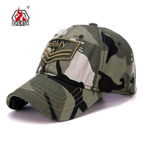 JXGXSX Camouflage Tactical Army Baseball Cap Casual Desert Jungle Cap Men Women Snapback Hats Casquette Chapeu Touca Homme