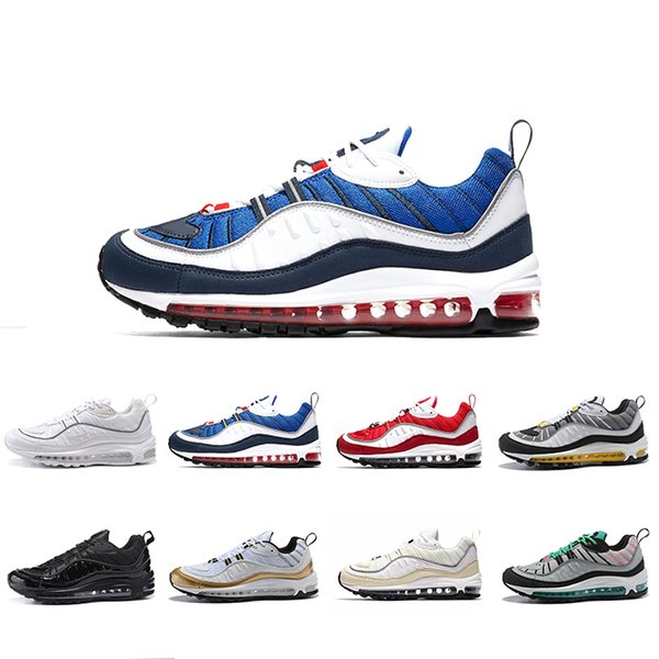 White Blue Grey Yellow Air OG 98 Gundam Jogging Running Shoes Mens 98s Black Red Navy Fluorescent Green Athletic Sports Sneakers 36-45