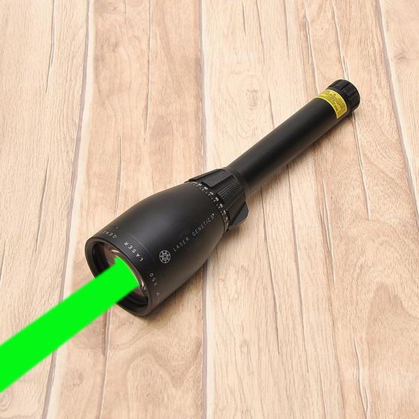 2018-Green Laser-Bezeichner ND3 X50 ND50 Long Distance Jagd Laser Sight w / Einstellbare Zielfernrohr Mount Night Vision Taschenlampe