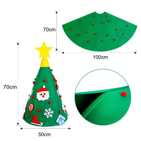 Toddler Christmas Tree Craft.Fengrise Felt Diy Craft Christmas Tree Ornaments 3d Artificial Christmas Tree Toddler Xmas Gifts For Kids Navidad New Year Christmas House Decorating
